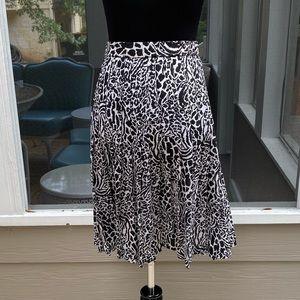 Vintage Highwaisted Pleated Zebra Print Skirt